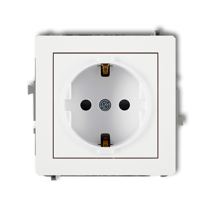 Single socket with earth SCHUKO 2P+Z (with increased contact protection/shutter)