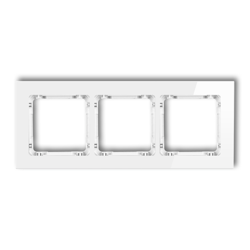 3-gang universal frame - glass