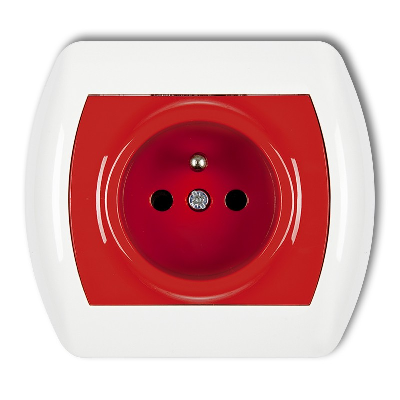 DATA single socket with earth 2P+Z DATA, without key (child protection)
