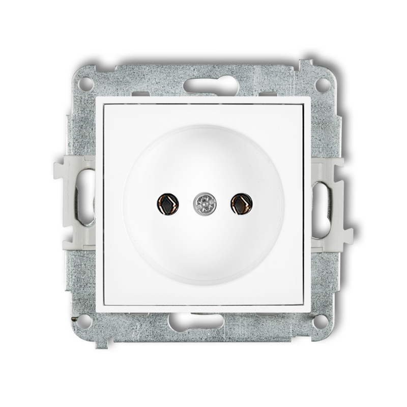 Single socket without earth 2P (without child protection)