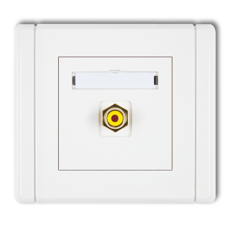 RCA single socket (cinch type-yellow, gold-plated)