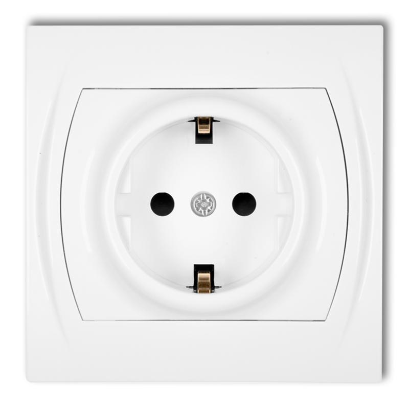 Single socket 2P+Z SCHUKO (child protection)