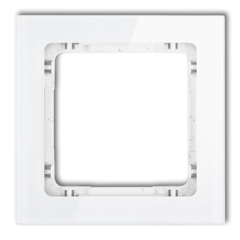 1-gang universal frame - glass effect