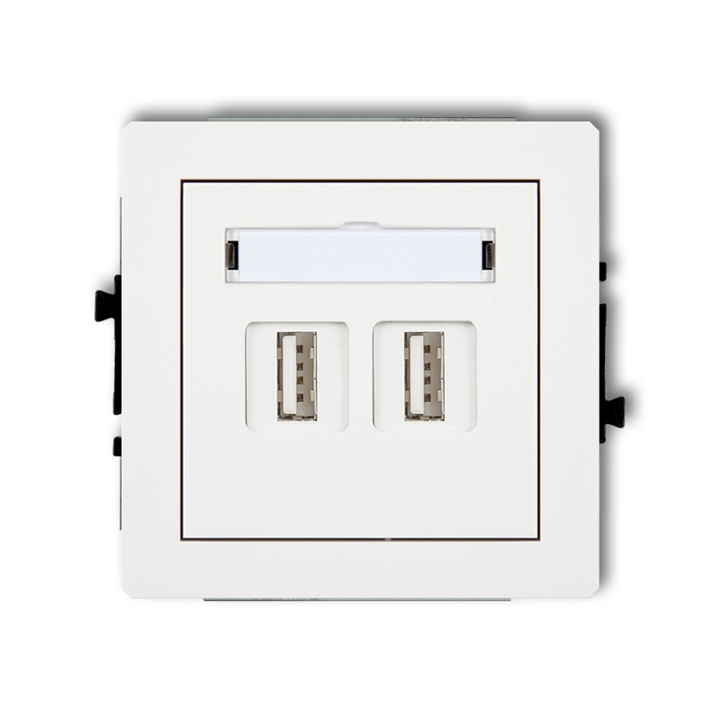 2xUSB-AA 2.0 double socket
