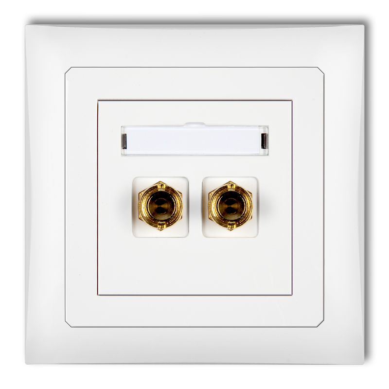 Single loudspeaker socket (banana type- red and black, gold-plated, 4mm2, twisted)