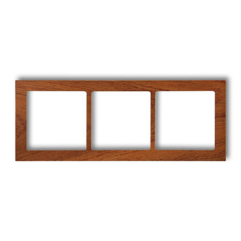 3-gang universal frame - wood