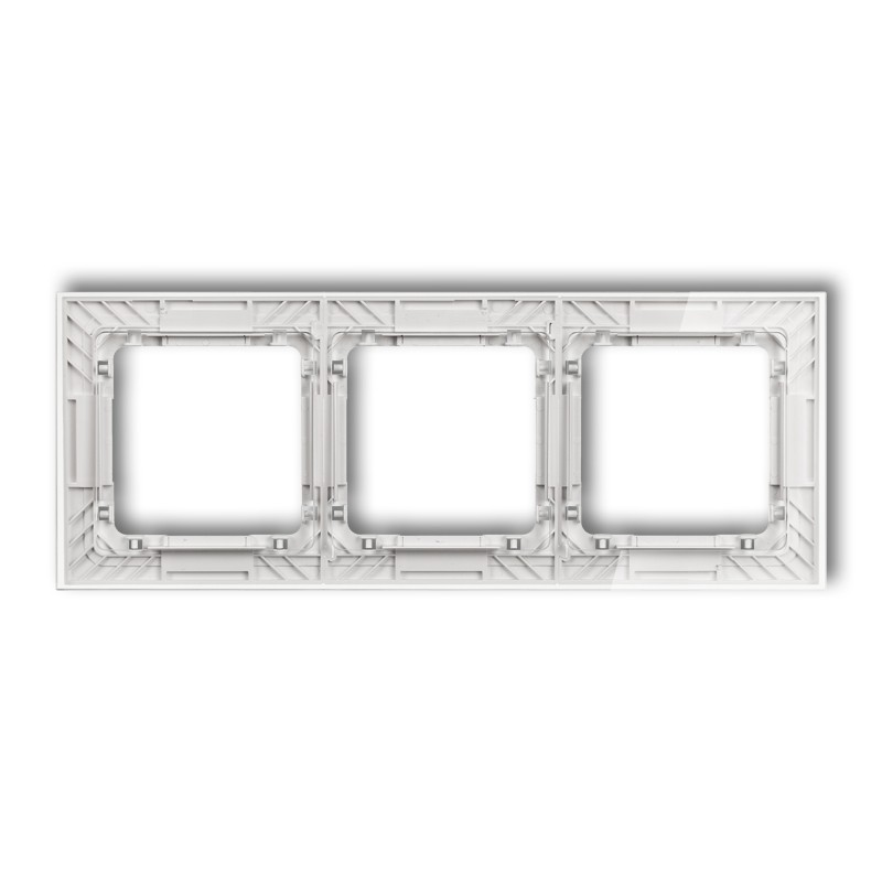 3-gang universal transparent frame DECO Art - glass effect