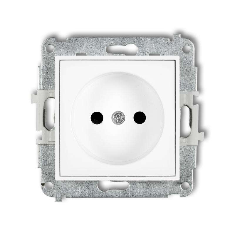 Single socket without earth 2P (child protection)