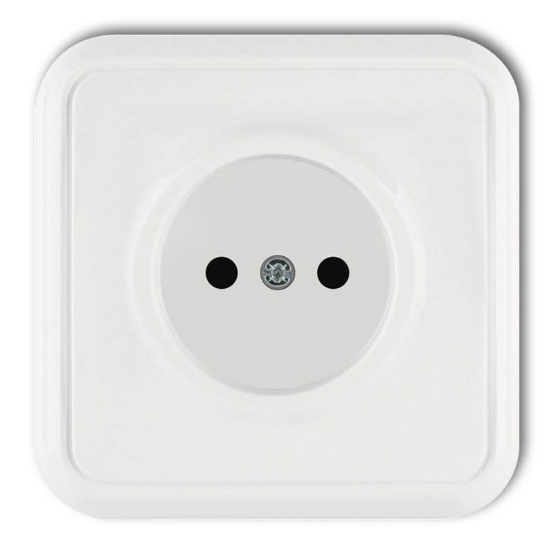 Single socket without earth 2P