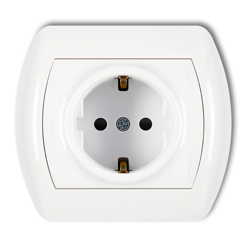 Single socket with earth SCHUKO 2P+Z (child protection)