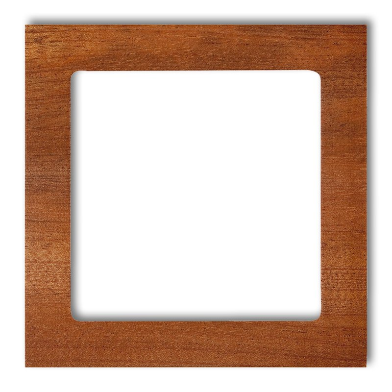 1-gang universal frame - wood