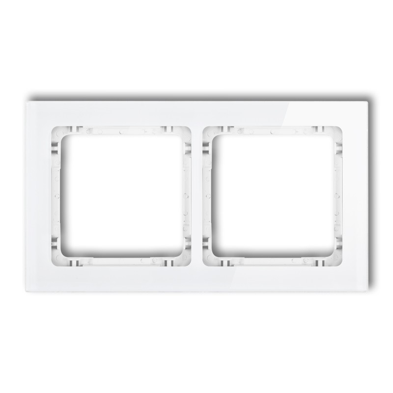 2-gang universal frame - glass effect