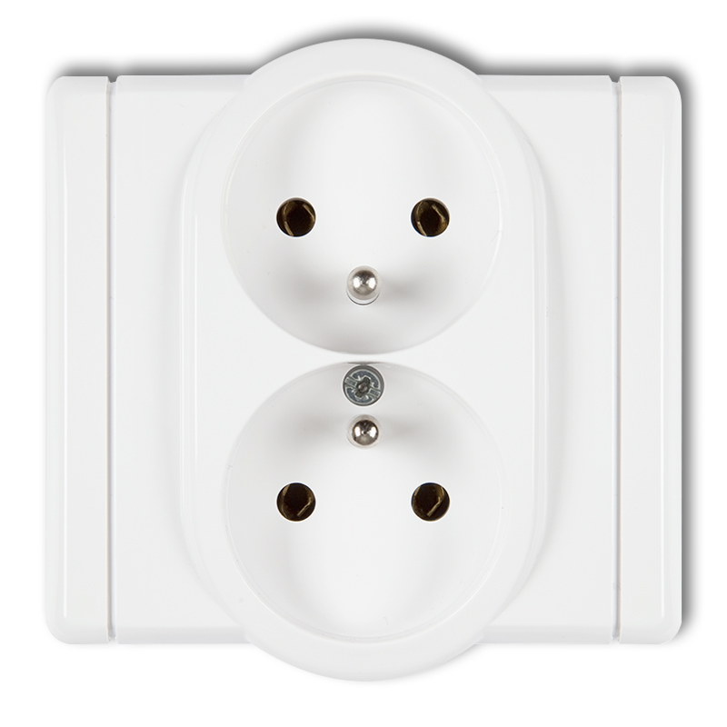 Double socket with earth 2x(2P+Z) (child protection)