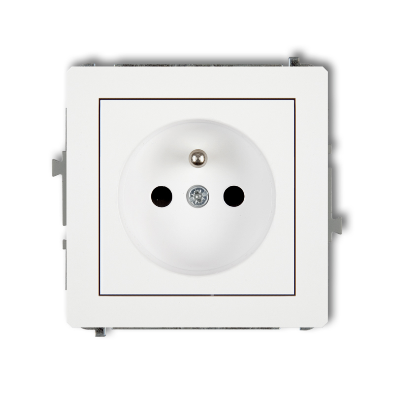 Single socket with earth 2P+Z (with increased contact protection/shutter)