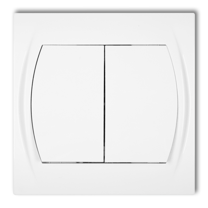 Roller blind switch (double push button without pictograms)