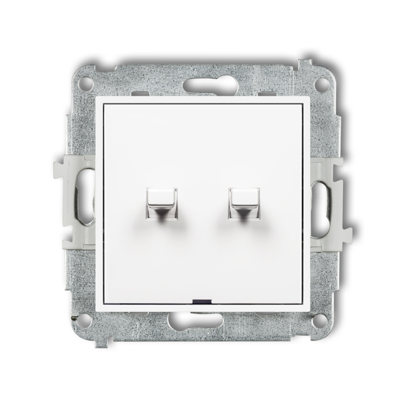 Double push button switch in American style (two pushbuttons without pictograms, separate power supply)