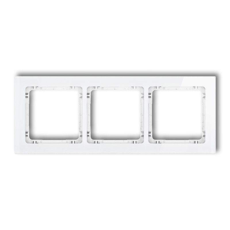 3-gang universal frame - glass effect