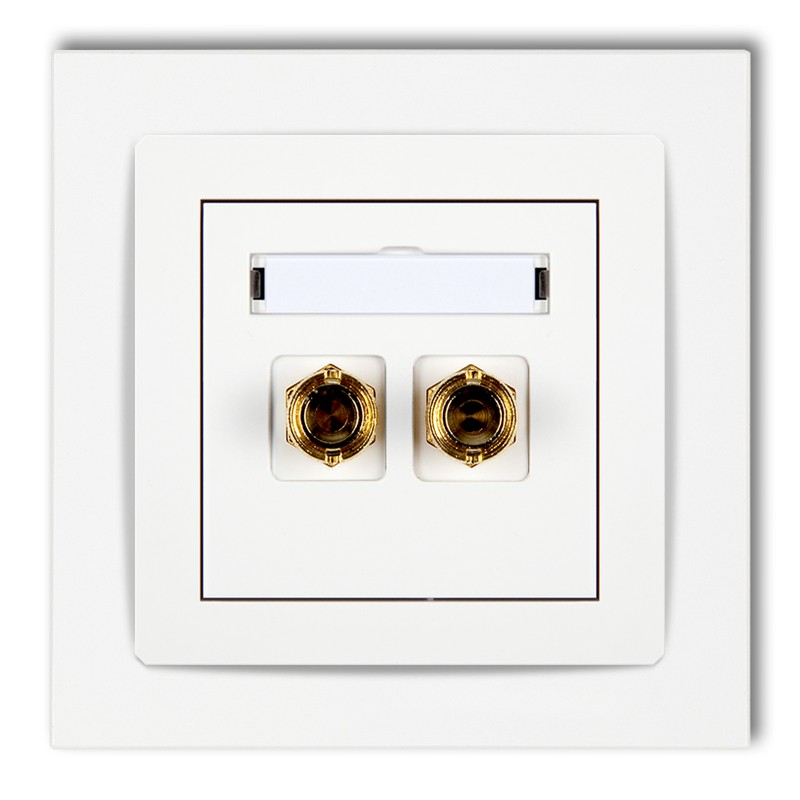 Single loudspeaker socket (banana type- red and black, gold-plated, 4mm2, soldering)