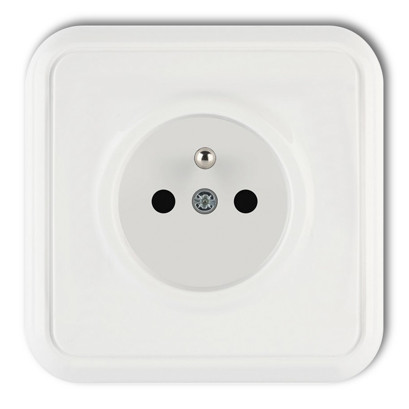 Single socket with earth 2P+Z