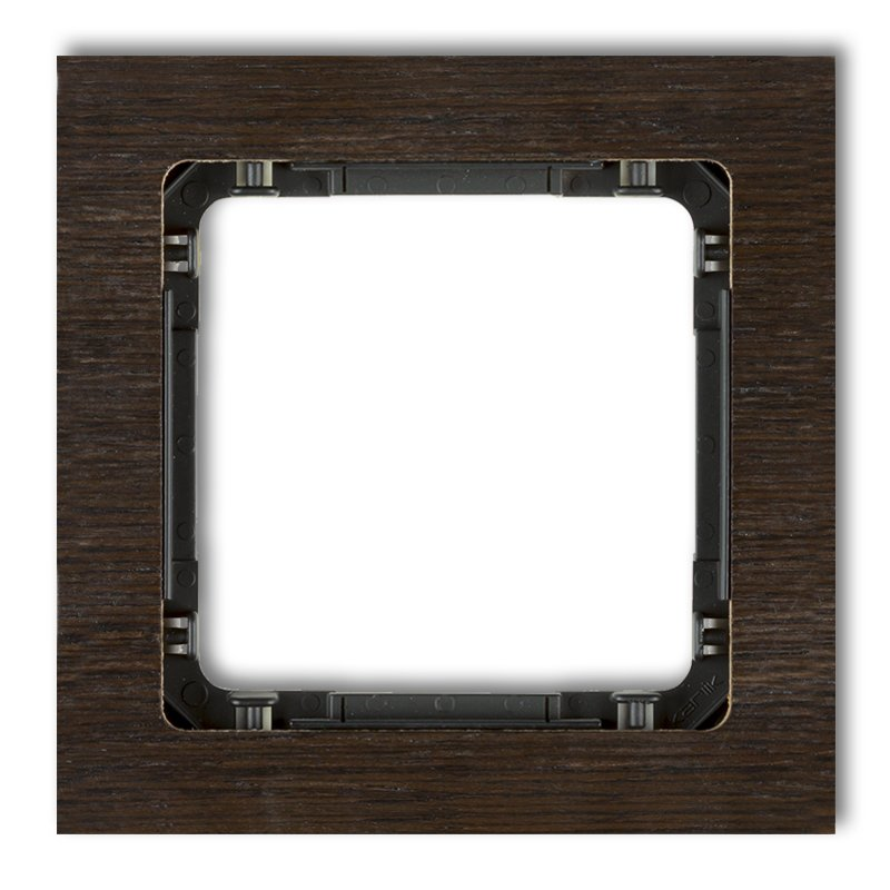 1-gang universal frame - wood effect