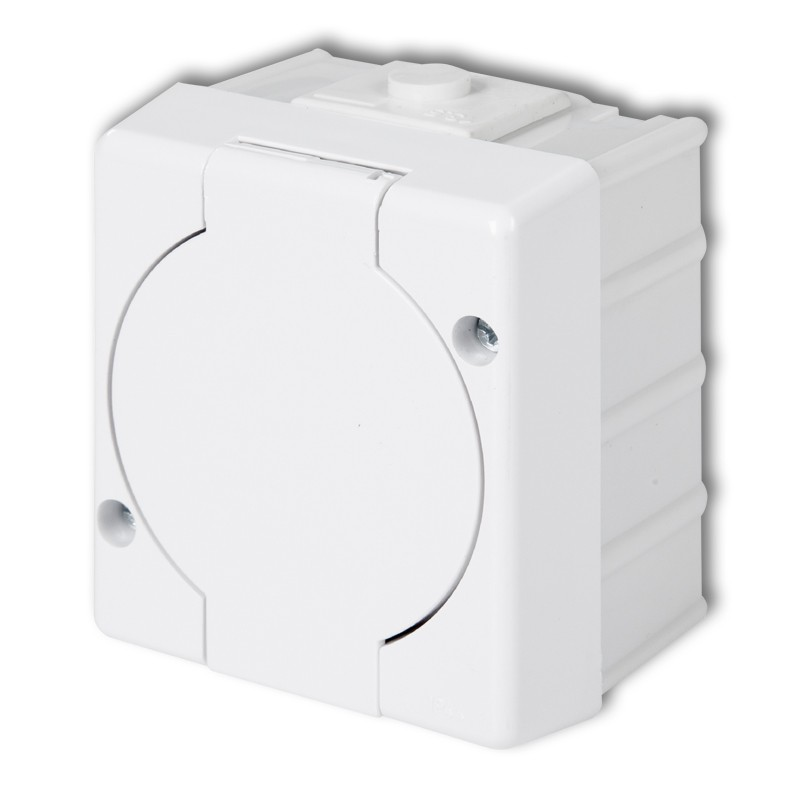 Single socket with earth 2P+Z (white cover)