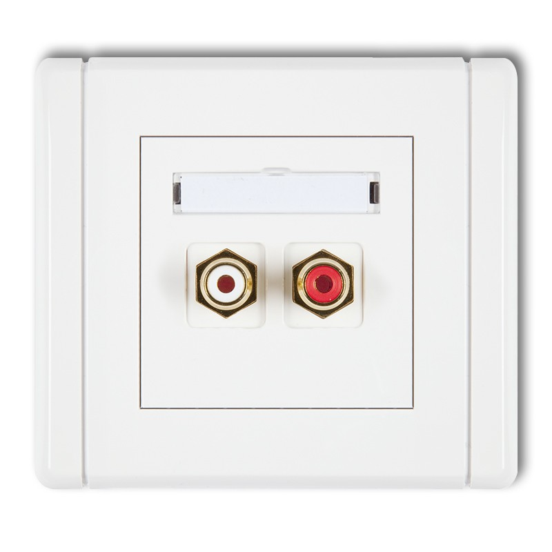 RCA double socket (cinch type-white and red, gold-plated)