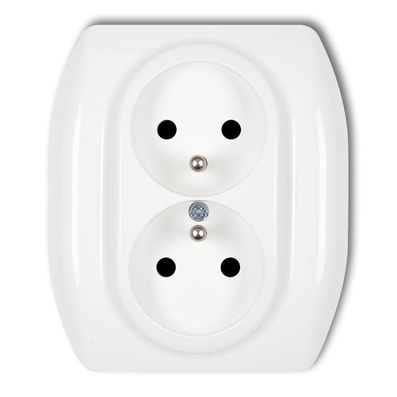 Double socket with earth 2x(2P+Z)