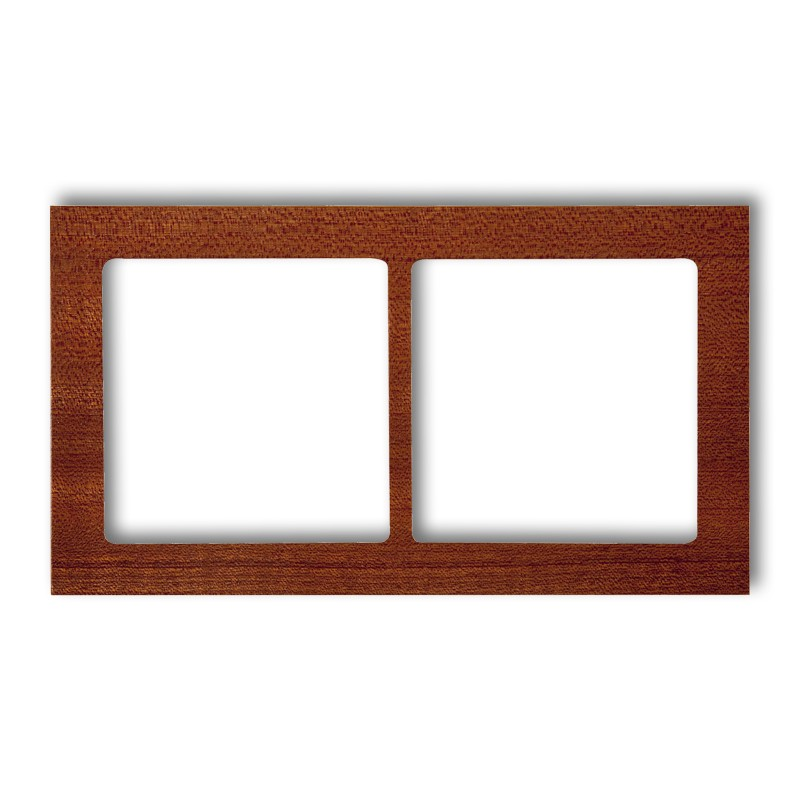 2-gang universal frame - wood