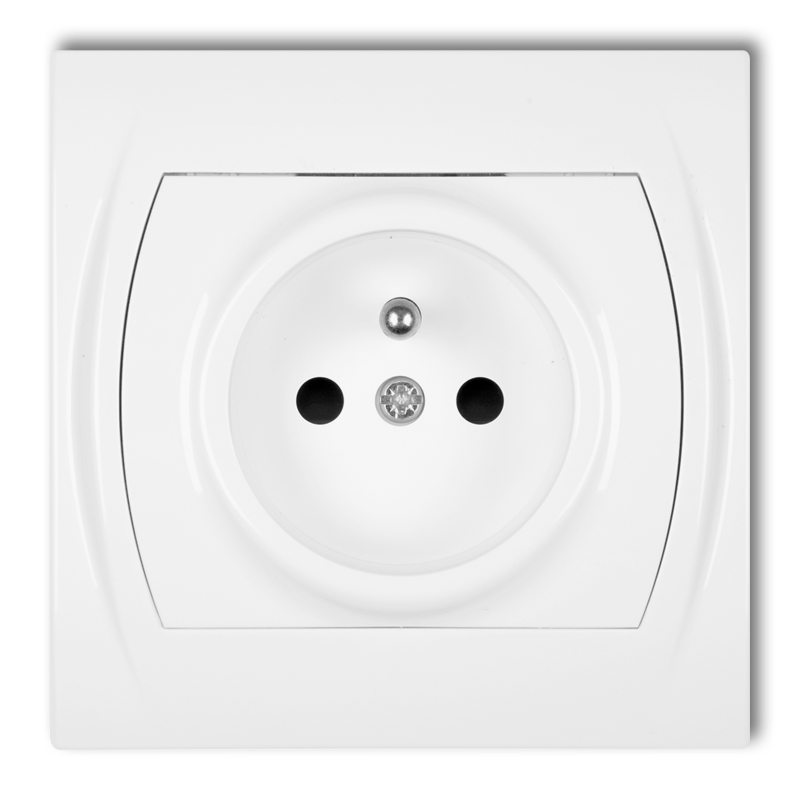 Single socket with earth 2P+Z (child protection)