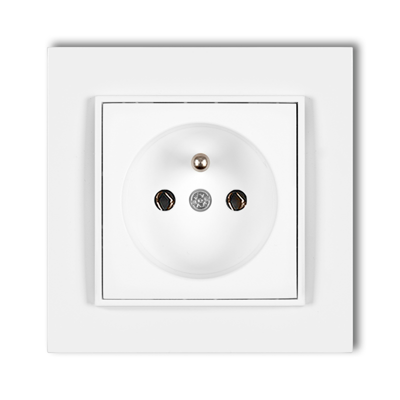 Single socket with earth 2P+Z (without child protection)