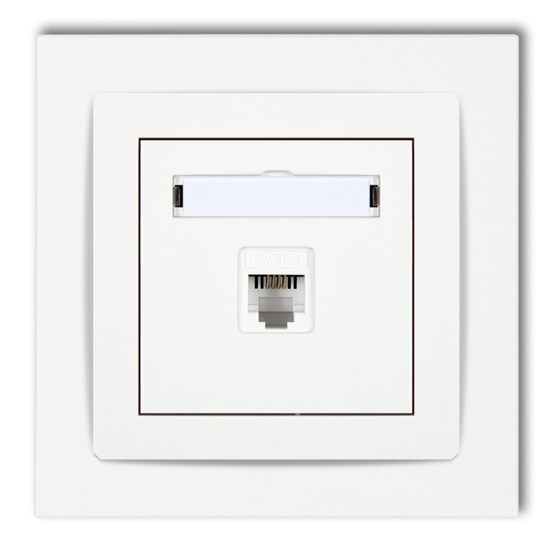 Single telephone socket 1xRJ11, 4-contact, tool-less