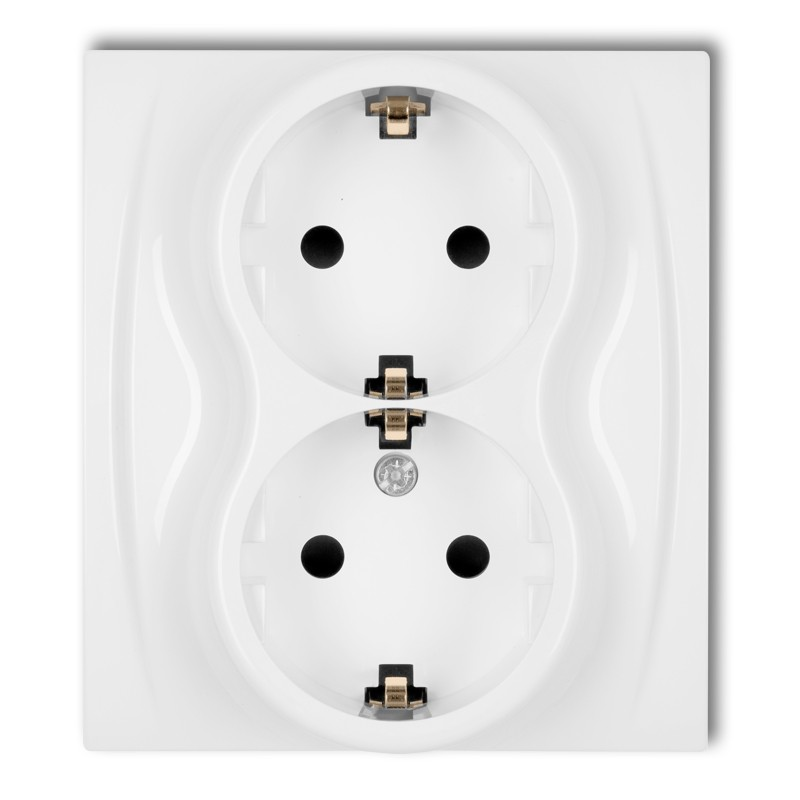 Double socket with earth SCHUKO 2x(2P+Z)